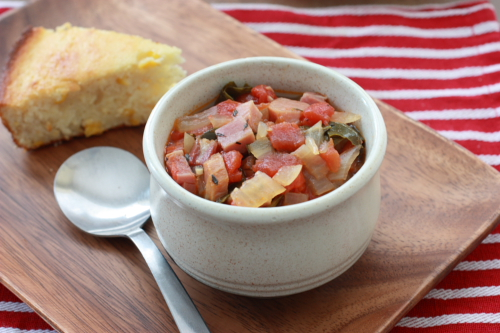 Country Ham Chowder with Collard Greens