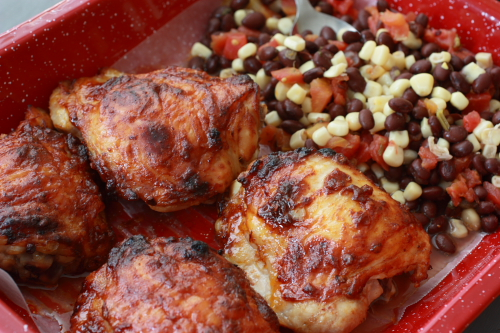 Spicy Honey Chipotle Chicken Thighs