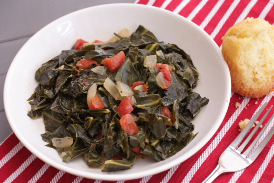 Cook at Heart Soul Food Sunday - Spicy Collard Greens with Tomatoes ...