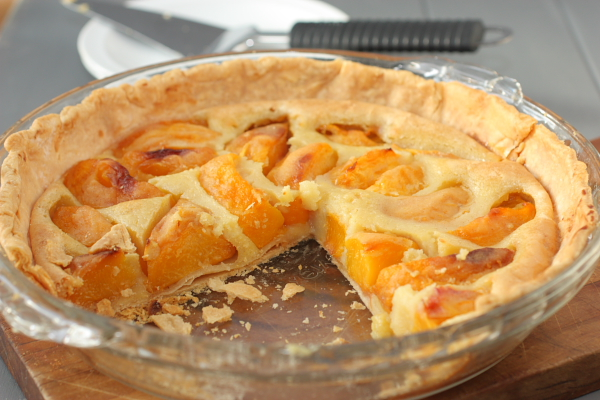 Cook at Heart Roasted Peaches and Cream Pie - a Cook at Heart