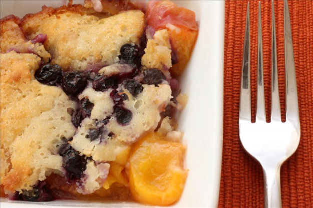 Nectarine Blueberry Buttermilk Cobbler