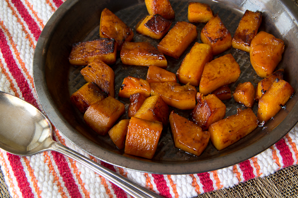 Brown Sugar Glazed Butternut Squash for Two