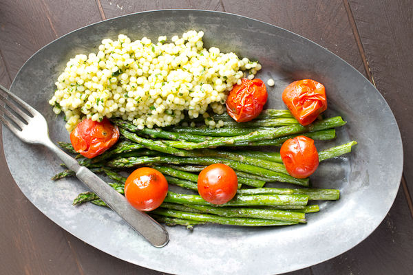 ... Roasted Asparagus and Tomatoes with Herbed Couscous - a Cook at Heart