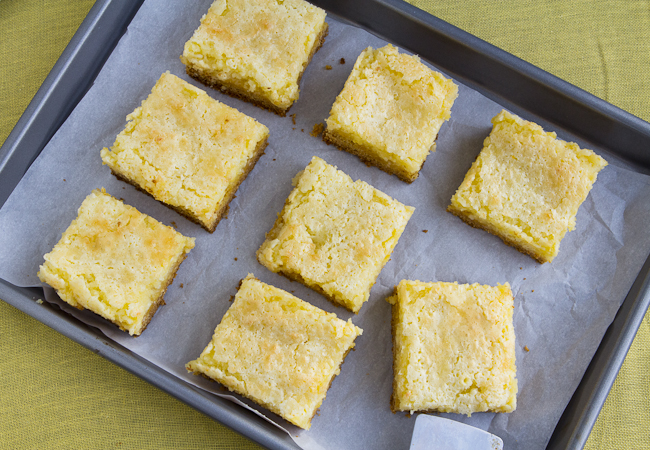 Lemon Chess Cake Bars