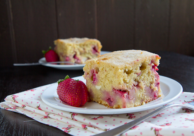 Strawberry and Cheese Coffee Cake