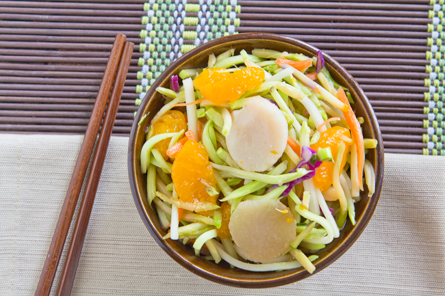 Asian Broccoli Slaw with Ginger Soy Dressing