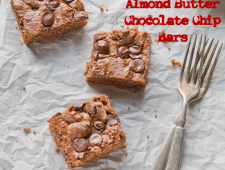 Almond Butter Chocolate Chip Bars