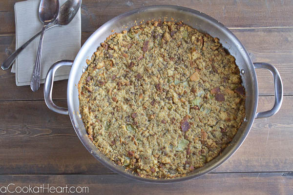 corn bread dressing skillet