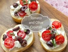 Tomato and Olive Crostini
