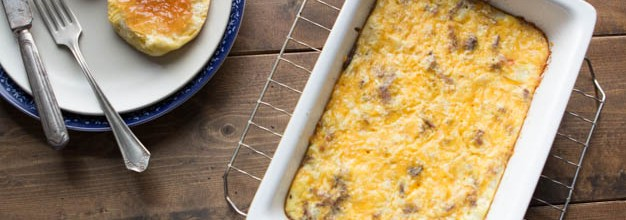 Hash Brown Breakfast Casserole with Bacon